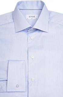 Приталенная сорочка с манжетами под запонки Eton