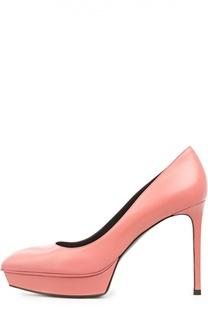 Кожаные туфли Janis на шпильке Saint Laurent