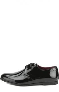 Лаковые туфли на шнуровке Dolce & Gabbana