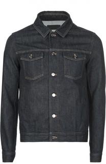 Джинсовая куртка с контрастной отстрочкой Ermenegildo Zegna