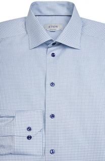 Полуприталенная сорочка в клетку Eton