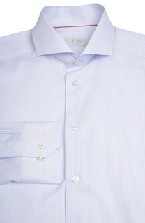 Приталенная сорочка в полоску Eton