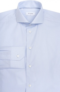 Приталенная сорочка с в полоску Eton