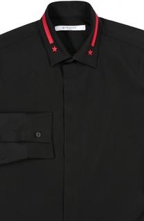 Сорочка с вышивкой на воротнике Givenchy