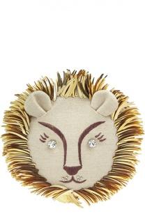 Текстильный клатч Leo с вышивкой Charlotte Olympia