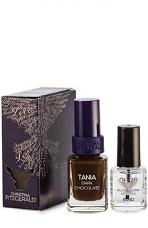 """Лак для ногтей Tania """"Горький шоколад"""" и Bond-подготовка Christina Fitzgerald"""