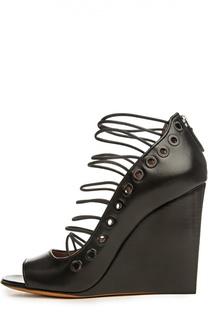 Туфли с эластичными шнурками и люверсами Givenchy