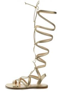 Сандалии-гладиаторы Medusa на шнуровке Gianvito Rossi