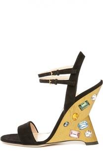 Босоножки Engel с кристаллами Swarovski Gucci