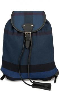 Рюкзак из текстиля в клетку с кожаной отделкой Burberry