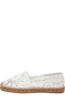 Кружевные эспадрильи с декором Dolce & Gabbana