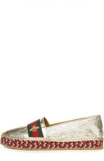 Эспадрильи Pilar с вышивкой Gucci