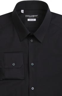 Приталенная сорочка с воротником кент Dolce & Gabbana