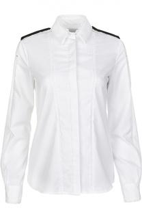 Хлопковая приталенная блуза с воротником матроска PREEN by Thornton Bregazzi