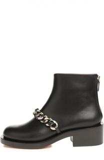 Кожаные ботинки с массивной цепью Givenchy