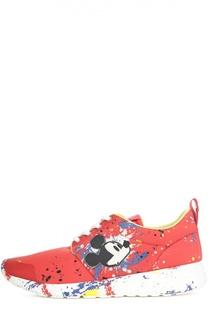 Текстильные кроссовки Disney с декором MOA
