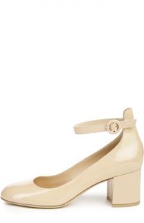 Лаковые туфли Greta с ремешком на щиколотке Gianvito Rossi