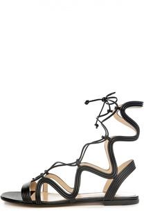 Кожаные сандалии Hydra на шнуровке Gianvito Rossi