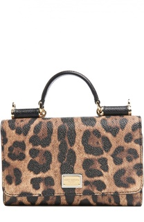 Чехол Mini Von для iPhone 6/6S с леопардовым принтом Dolce & Gabbana
