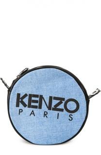 Сумка Kanvas из денима с кожаной отделкой Kenzo