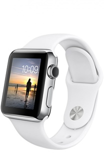 Apple Watch 38mm Silver Stainless Steel Case with Sport Band Apple