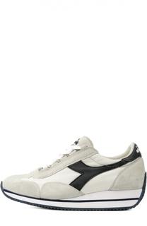Комбинированные кроссовки на контрастной подошве Diadora Heritage