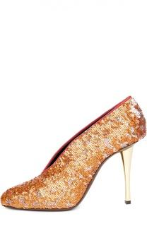 Туфли с пайетками на шпильке Lanvin