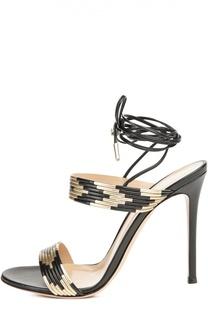 Босоножки Suni с шнурком на щиколотке Gianvito Rossi