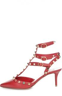 Кожаные туфли Rockstud Rolling на шпильке Valentino
