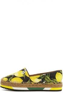 Парчевые эспадрильи с принтом Dolce & Gabbana