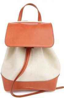 Рюкзак из текстиля с кожаной отделкой Mansur Gavriel