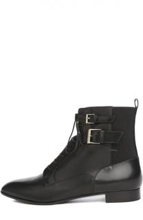Кожаные ботинки с ремешками Sergio Rossi
