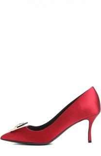 Сатиновые туфли Eden с брошью Nicholas Kirkwood