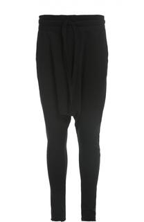 Хлопковые брюки с заниженной линией шага Barbara I Gongini