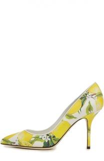 Сафьяновые туфли Bellucci на шпильке Dolce & Gabbana
