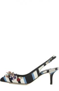Текстильные туфли Bellucci с декором Dolce & Gabbana