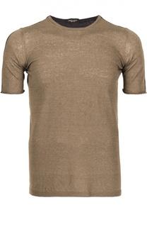 Двухцветная футболка Roberto Collina