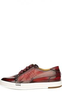 Кеды с ручным нанесением патинирования Berluti Shoes
