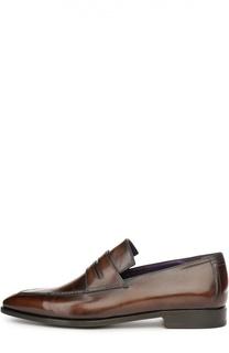 Классические лоферы с ручным нанесением патинирования Berluti Shoes