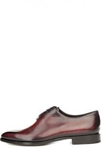 Оксфорды с ручным нанесением патинирования Berluti Shoes