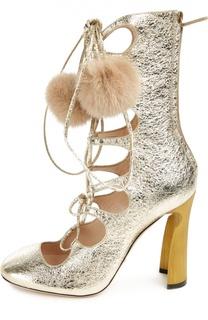Полусапоги Heloise на шнуровке Gucci
