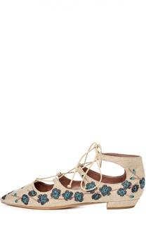 Текстильные балетки Magnolia с вышивкой Tabitha Simmons