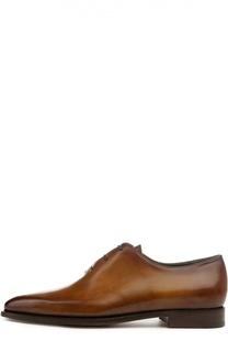Классические оксфорды с ручным нанесением патинирования Berluti Shoes