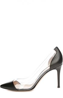 Кожаные туфли Plexi на шпильке Gianvito Rossi