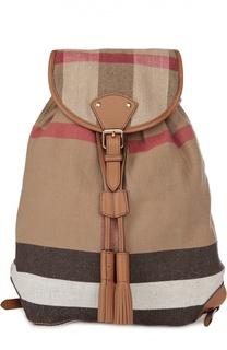 Рюкзак Chiltern из клетчатого текстиля с кожаной отделкой Burberry