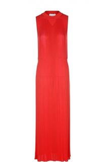 Плиссированное вязаное платье с вырезом на спине Sonia Rykiel
