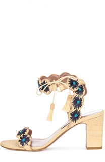 Босоножки из рафии Ollie с вышивкой Tabitha Simmons
