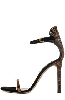 Босоножки Glam Tribe со стразами на шпильке Valentino