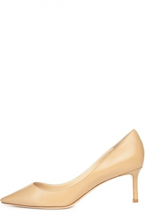 Кожаные туфли Romy на шпильке Jimmy Choo