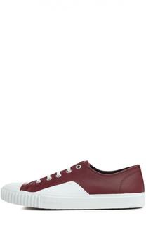 Кожаные кеды с контрастной шнуровкой Balenciaga